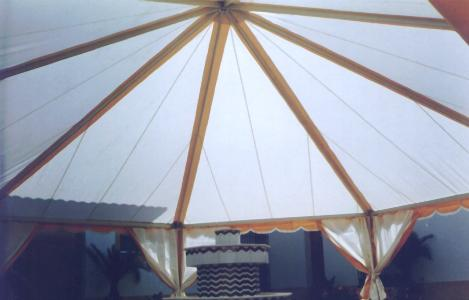 carpa octogonar vista interior